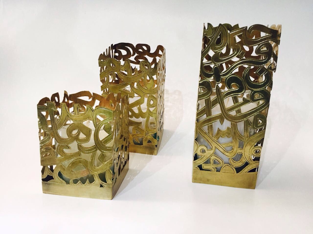 Three Unique Candle With Arabic letters